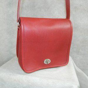 COACH 'Companion Flap' Bag #9076 RED NICKEL LN